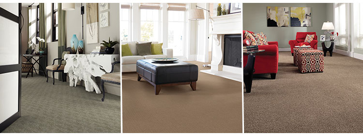 Shaw carpets in living room dining